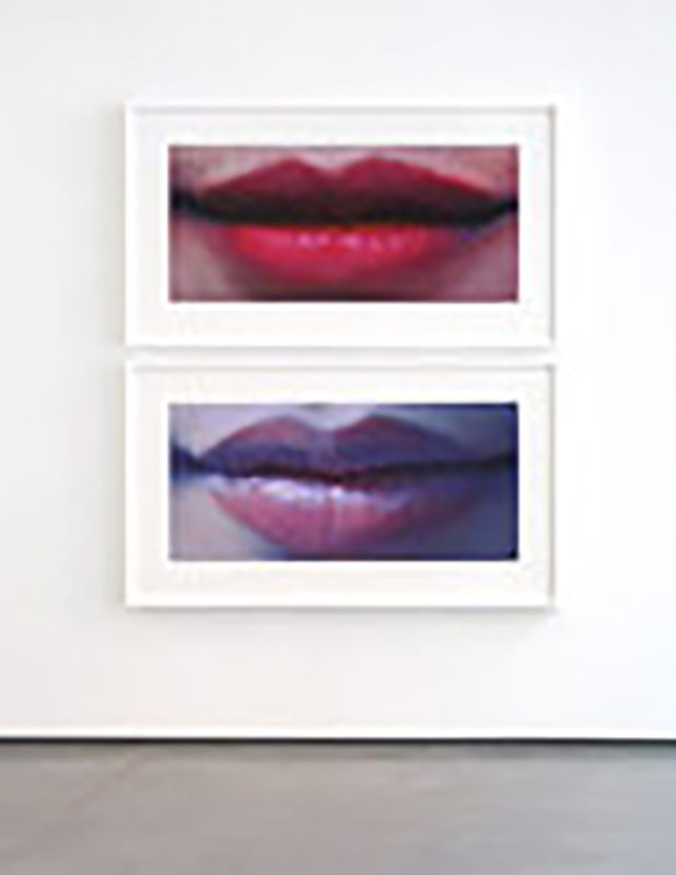 Lips Diptych (#5), 2012